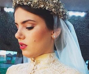 angel, wedding, and wedding dress image