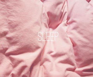 pink, bed, and wallpaper image