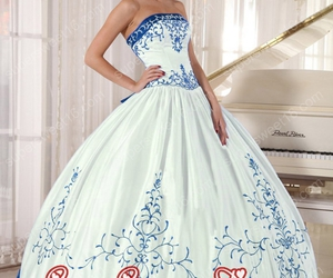 dresses, mexican, and quinceanera image