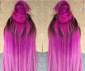 dyed hair, hair, and hair inspiration image