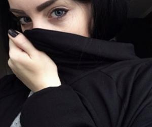 girl, black, and eyes image