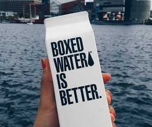 boxed water, water, and tumblr image