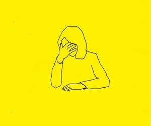 yellow, art, and girl image