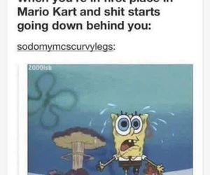 mario kart, funny, and lol image