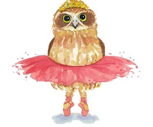 owl, ballet, and art image