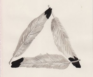 triangle feather image