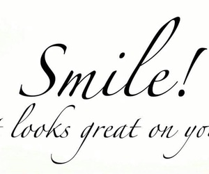 calligraphy, quote, and smile image
