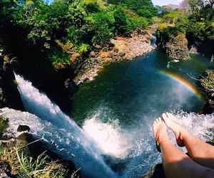 nature, waterfall, and summer image