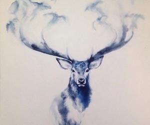 deer, drawing, and art image