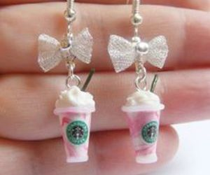 starbucks, earrings, and pink image