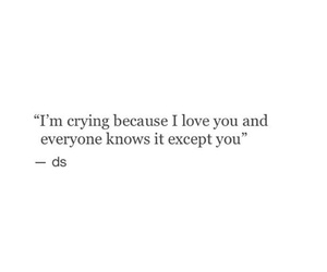 crying, feelings, and quote image