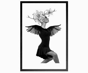 fashion, surrealistic, and dancer print image