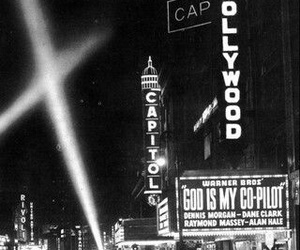 1950, black, and time square image
