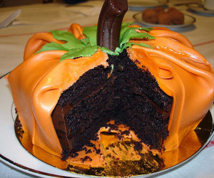 Halloween, cake, and pumpkin image