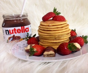 nutella, strawberry, and Best image