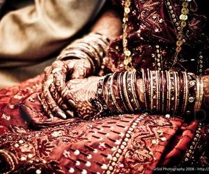 bride, henna, and india image