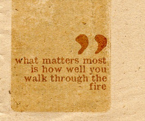 quote, text, and fire image