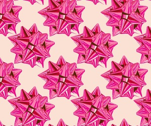 bow, pattern, and pink image
