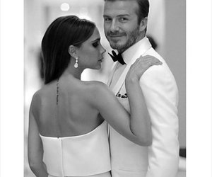 couple, love, and David Beckham image
