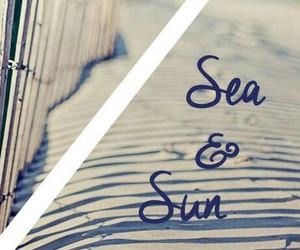 sand, sea, and beach image
