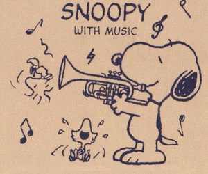 snoopy and trumpet image