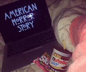 bed, pink, and ahs image