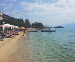 beach, Greece, and sea image