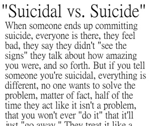 suicidal, suicide, and quote image