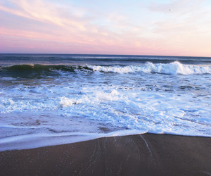 sea, wave, and summer image
