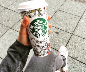 fall, starbucks, and pumpkinspicelatte image