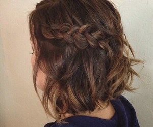 braid, brunette, and hair inspiration image