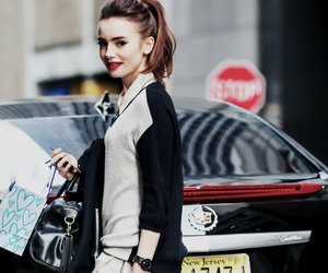 lily collins and fashion image