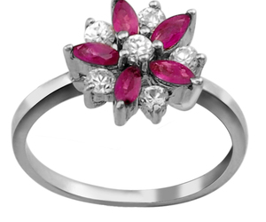 flower, jewelry, and jewel image