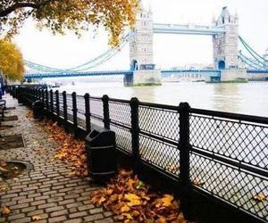 london, autumn, and bridge image