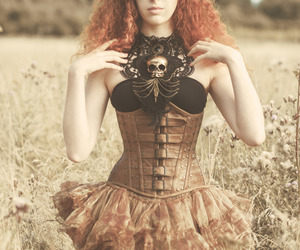 copper, corset, and red hair image