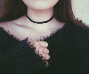 choker, tumblr, and pale image