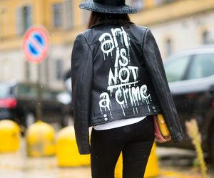 fashion, jacket, and milan image