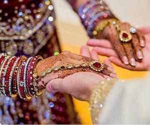 wedding, bride, and indian image