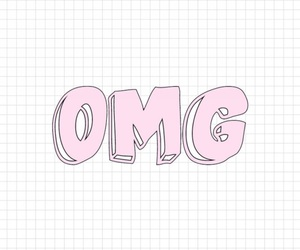 OMG, pink, and wallpaper image