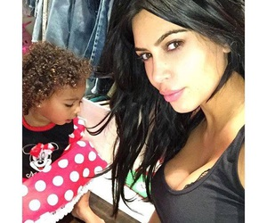 kim kardashian, north west, and kim kardashian west image