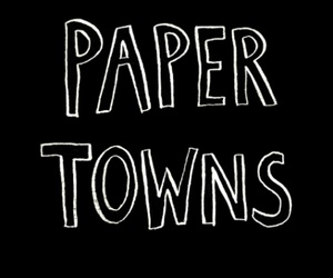 black and white, john green, and paper towns image