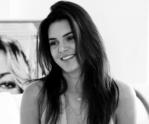 kendall jenner, beautiful, and black and white image
