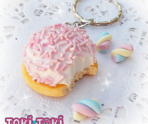 polymer clay food, polymer clay charms, and lolita fairy kei image
