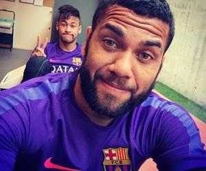 dani alves, neymar, and Barca image