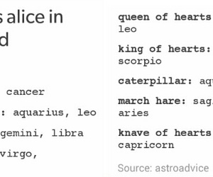 alice in wonderland, cancer, and zodiac image