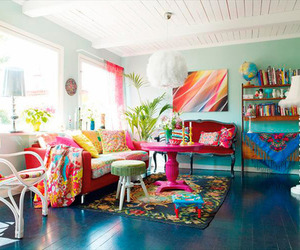 colorful, decoration, and living room image