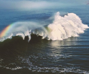 blue, ocean, and rainbow image