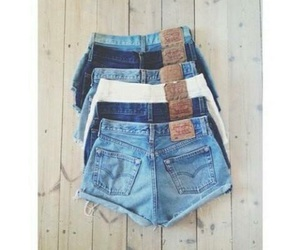 shorts, style, and jeans image