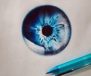eye, art, and blue image
