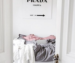 Prada, room, and white image